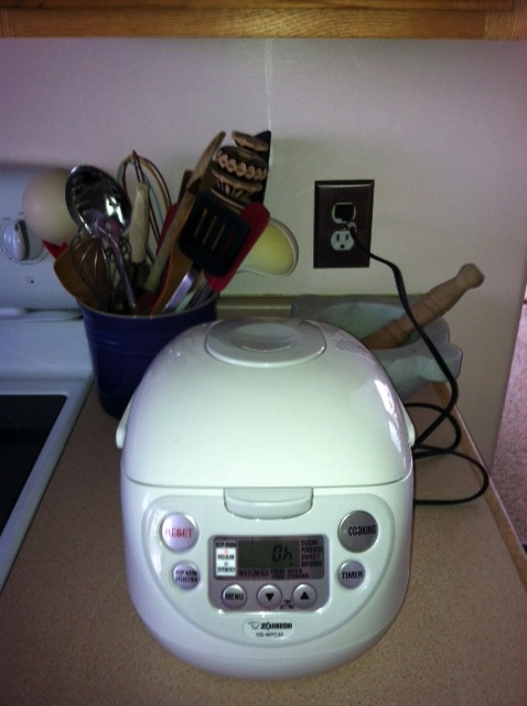 Let me introduce you to my rice cooker. We are very close.