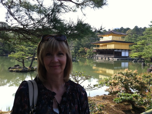 Me at the Golden Temple in Kyoto, Japan