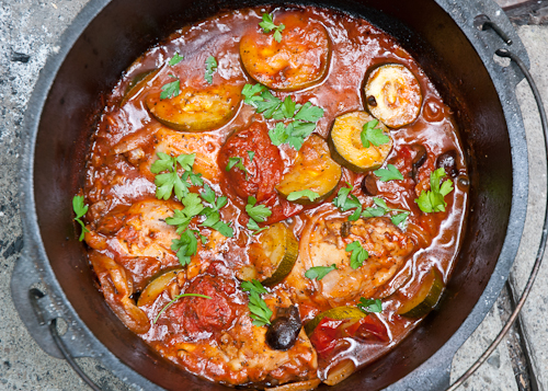 Dutch Oven Chicken Provencal Stew from Design Mom, adapted from Big Girls, Small Kitchen